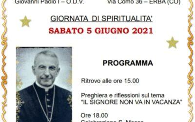 Prossima giornata di ritiro spirituale